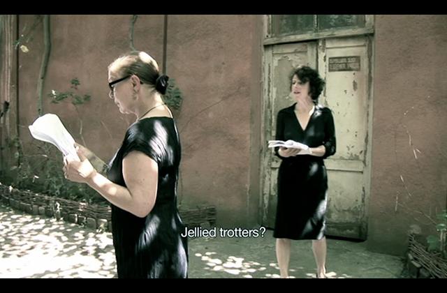 apa '12, Tina Bepperling, video still 'Private Memorial', with Annie Zadek, 2011
