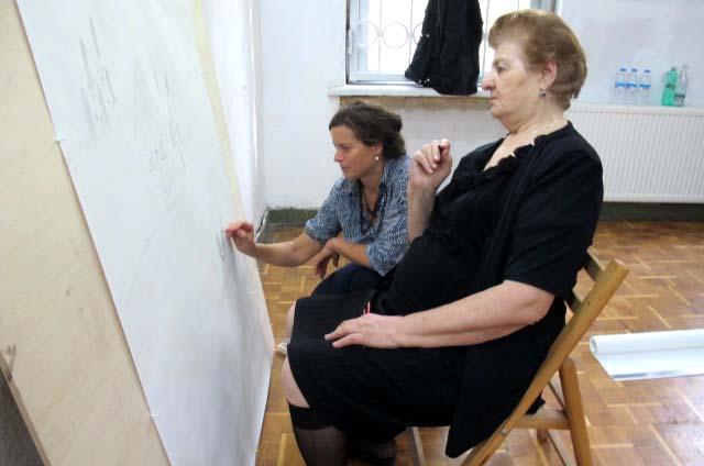 apa '15_Footnotes on... / Mzagho Periashvili, Irene Hohenbüchler,<br />workshop (collective drawing) Tbilisi oct 2015