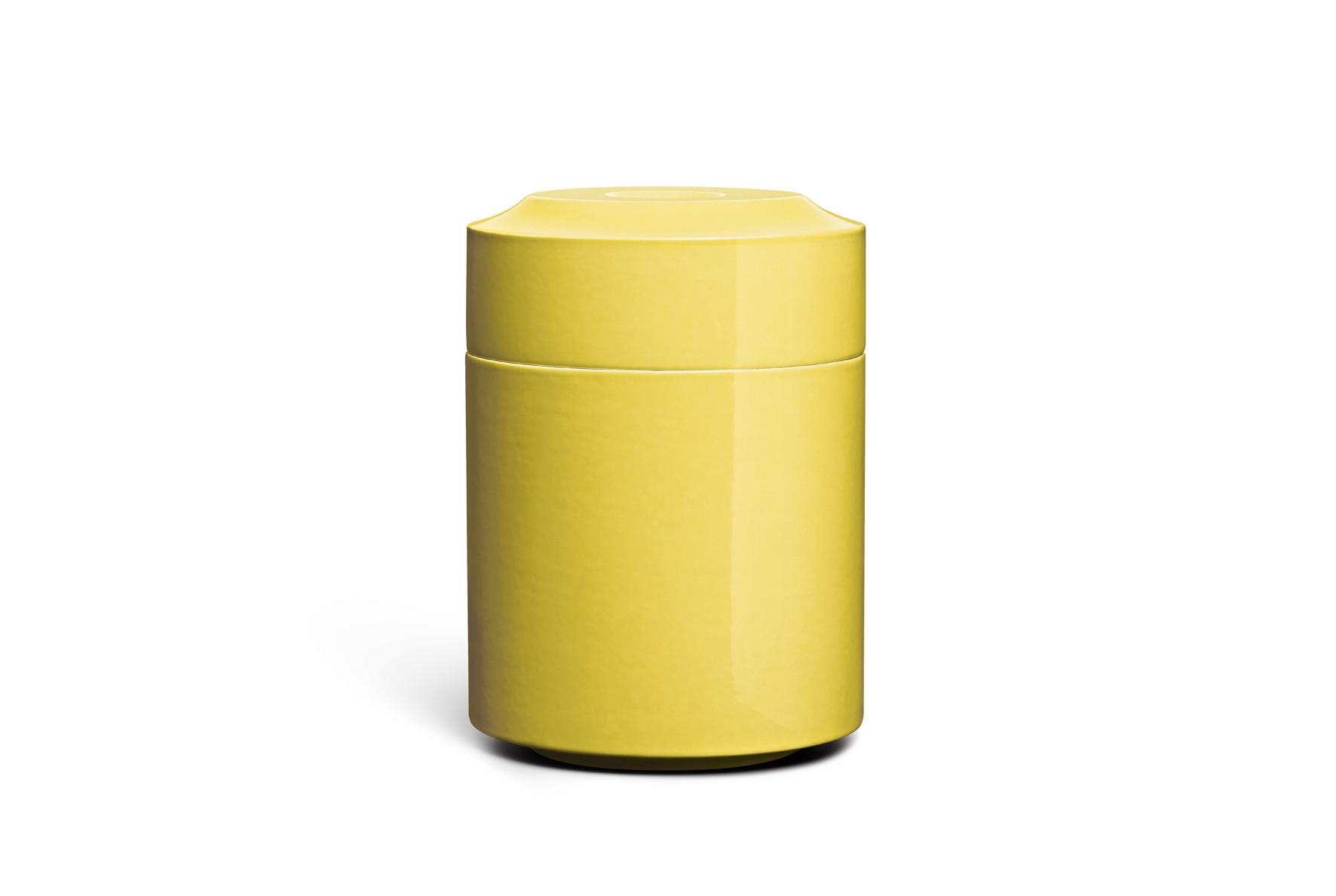 Keramik / glasiert / glänzend<br />Farbe: sun <br />H 29cm, DM 21cm