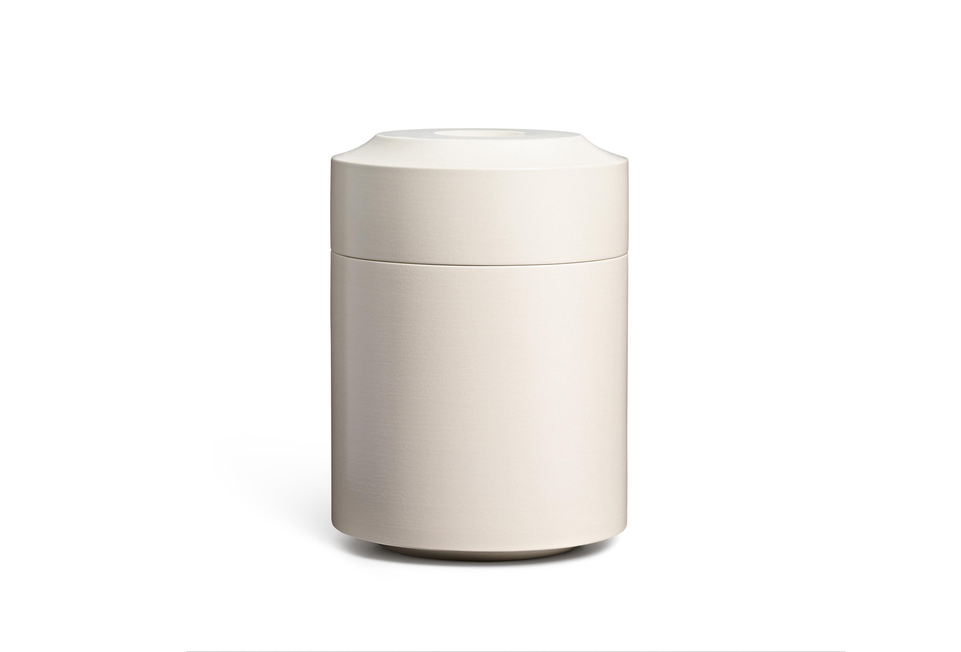 Keramik / unglasiert <br />Farbe: stone<br />H 29cm, DM 21cm